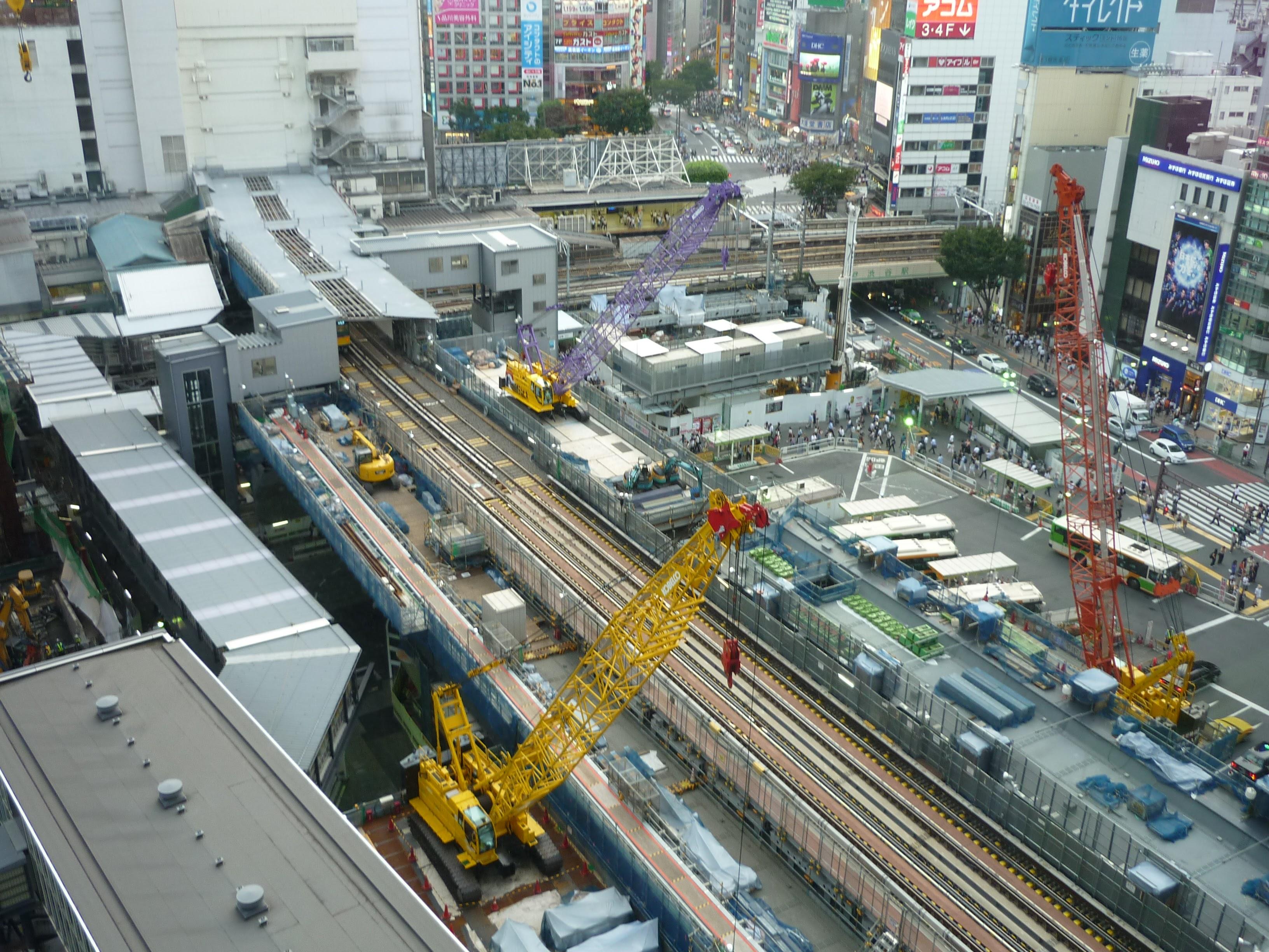 渋谷ヒカリエからの街並み